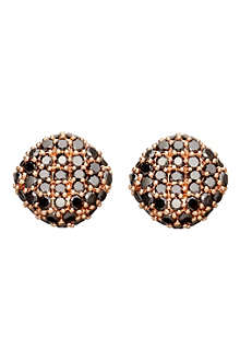 ASTLEY CLARKE Rose gold black diamond pillow earrings
