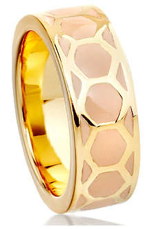 ASTLEY CLARKE Honeycomb stacking ring