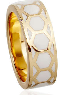 ASTLEY CLARKE Sea Shell Honeycomb 18ct gold vermeil ring