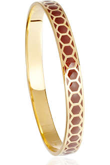 ASTLEY CLARKE Cappuccino Honeycomb 18ct gold vermeil bangle