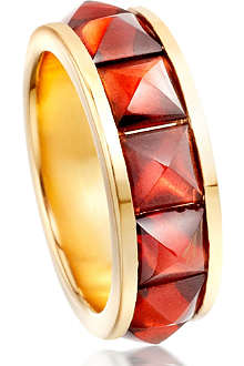 ASTLEY CLARKE Garnet 18ct gold vermeil eternity ring