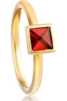 ASTLEY CLARKE Square Sonatina 18ct gold vermeil garnet ring