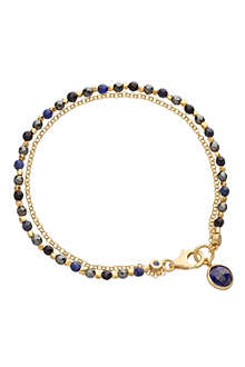 ASTLEY CLARKE Be very mysterious 18ct gold vermeil friendship bracelet