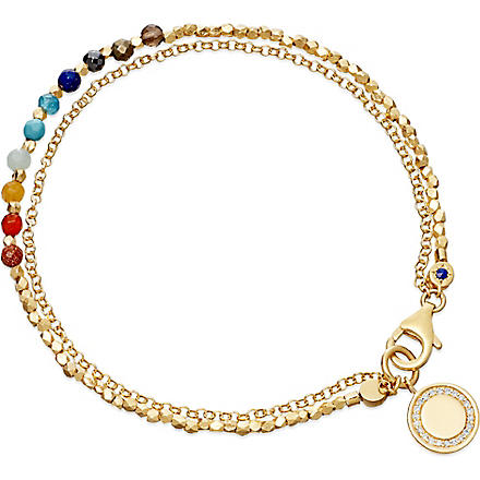 ASTLEY CLARKE Cosmos 18ct gold vermeil friendship bracelet (Multi, gold