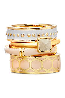 ASTLEY CLARKE You Make Me Blush 18ct gold vermeil stacking rings