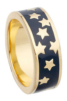 ASTLEY CLARKE Midnight Starshower 18ct gold vermeil stacking ring