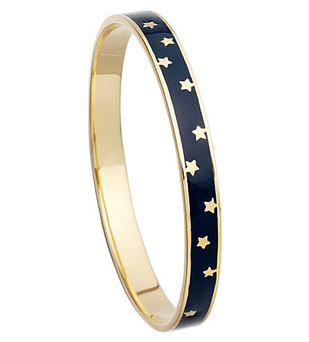 ASTLEY CLARKE Midnight Starshower 18ct gold vermeil bangle (Navy blue, gold