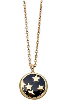 ASTLEY CLARKE Midnight Starshower 18ct gold vermeil pendant necklace
