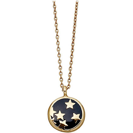 ASTLEY CLARKE Midnight Starshower 18ct gold vermeil pendant necklace (Navy blue, gold