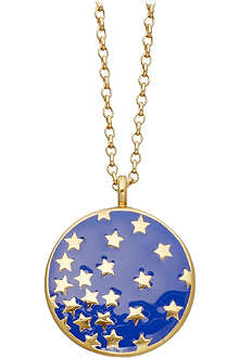 ASTLEY CLARKE Mood Indigo Starshower 18ct gold vermeil necklace