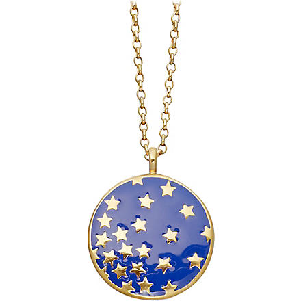 ASTLEY CLARKE Mood Indigo Starshower 18ct gold vermeil necklace (Bright blue, gold