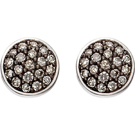 ASTLEY CLARKE A Little Muse 14ct white gold diamond stud earrings (Grey, white gold