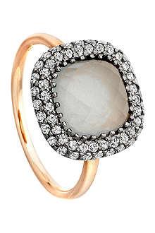 ASTLEY CLARKE Connie 18ct rose gold aquamarine ring