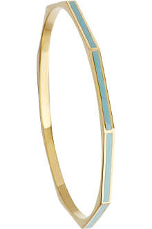 ASTLEY CLARKE Duck Egg Fractal 18ct gold vermeil bangle