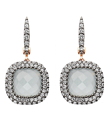 ASTLEY CLARKE Grey aquamarine Connie earrings (Rose gold