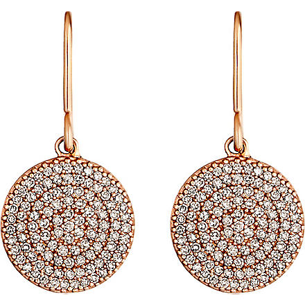 ASTLEY CLARKE Icon 14ct rose gold diamond drop earrings (Pink, grey