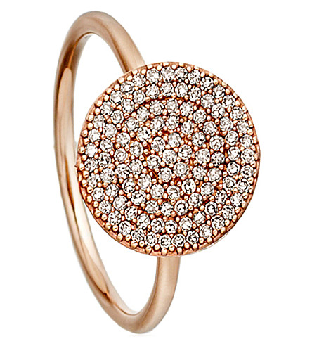 ASTLEY CLARKE Icon rose-gold and diamond ring (Pink,+grey