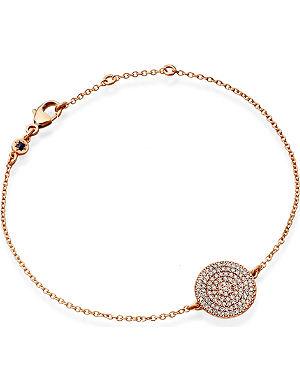 ASTLEY CLARKE Icon 14ct rose gold diamond charm bracelet