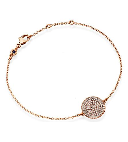 ASTLEY CLARKE Icon 14ct rose gold diamond charm bracelet (Pink,+grey