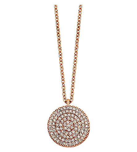 ASTLEY CLARKE Icon 18ct gold vermeil pendant necklace (Pink,+grey