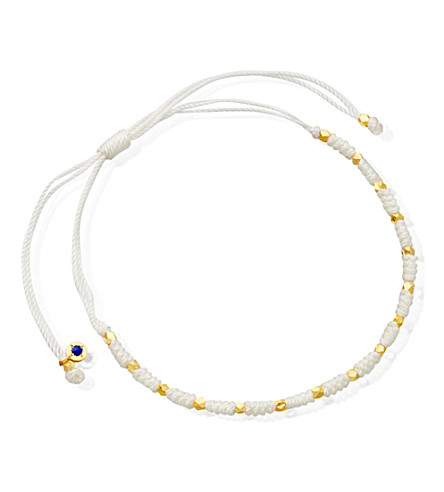 ASTLEY CLARKE Peace skinny bracelet (White