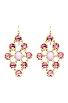 ASTLEY CLARKE Amethyst chandeliers 18ct gold vermeil earrings