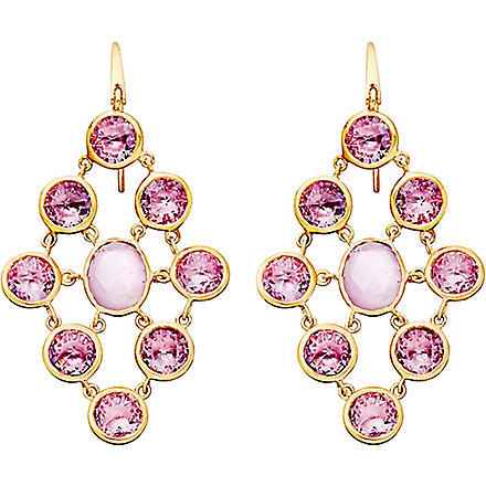 ASTLEY CLARKE Amethyst chandeliers 18ct gold vermeil earrings (Purple