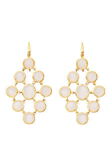 ASTLEY CLARKE Moonstone chandeliers 18ct gold vermeil earrings