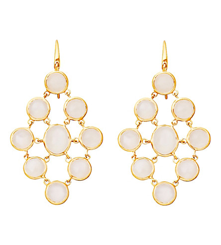 ASTLEY CLARKE Moonstone chandeliers 18ct gold vermeil earrings (White