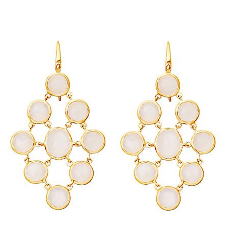 ASTLEY CLARKE Moonstone chandeliers 18ct gold vermeil earrings (White