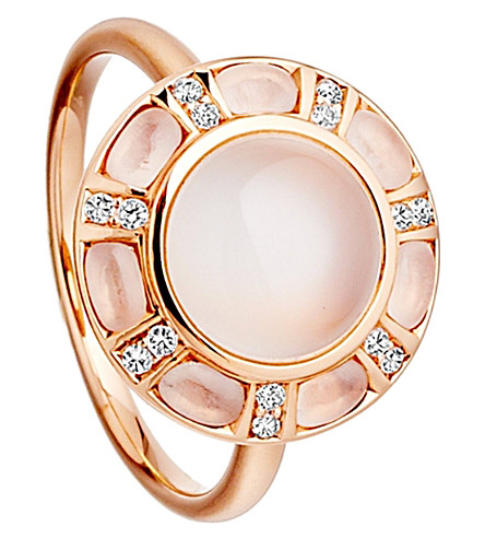 ASTLEY CLARKE Ruthie 18ct rose gold moonstone ring (Pink, white