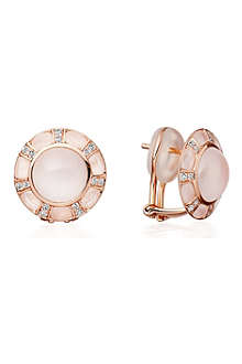 ASTLEY CLARKE Ruthie 18ct rose gold moonstone stud earrings