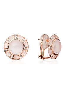 ASTLEY CLARKE Ruthie 18ct rose gold moonstone stud earrings