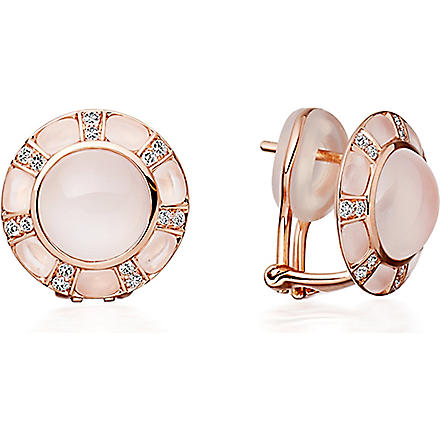ASTLEY CLARKE Ruthie 18ct rose gold moonstone stud earrings (Pink, white