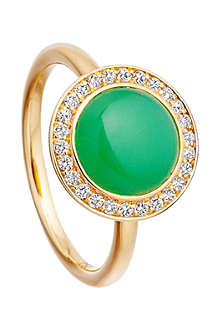 ASTLEY CLARKE Leah 18ct gold chrysoprase ring