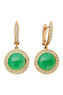 ASTLEY CLARKE Leah 18ct gold chrysoprase stud earrings