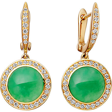 ASTLEY CLARKE Leah 18ct gold chrysoprase stud earrings (Green, gold