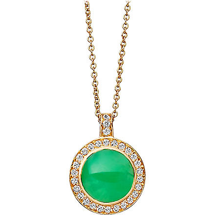 ASTLEY CLARKE Leah 18-carat gold chrysoprase pendant necklace (Green, gold