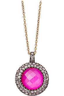ASTLEY CLARKE Connie mini 18ct gold ruby pendant necklace