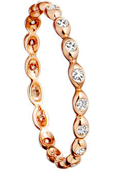 ASTLEY CLARKE 14ct rose gold ring with diamond drops