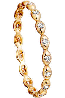 ASTLEY CLARKE 14ct yellow gold ring with diamond drops