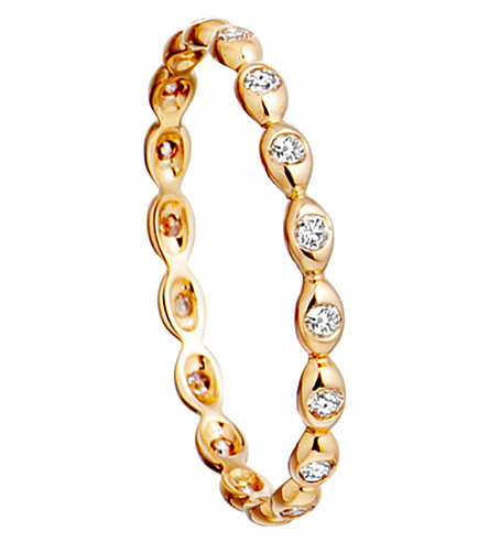 ASTLEY CLARKE 14ct yellow gold ring with diamond drops (Gold