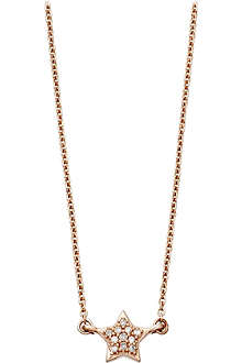 ASTLEY CLARKE A Little Light 14ct rose gold diamond pendant necklace