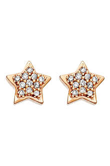 ASTLEY CLARKE A Little Light 14ct rose gold diamond stud earrings