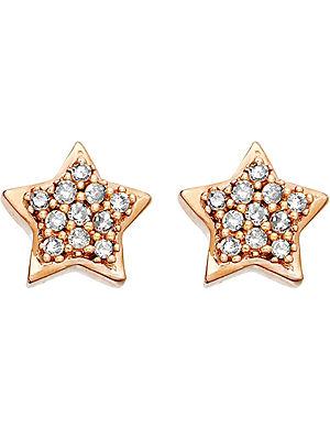 ASTLEY CLARKE A Little Light 14ct rose gold diamond stud earrings