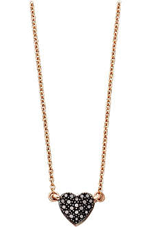 ASTLEY CLARKE A Little Love 14ct rose gold diamond pendant necklace