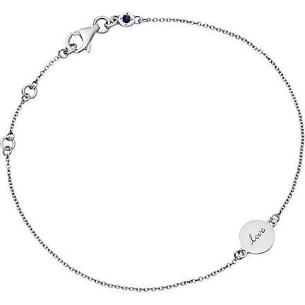 ASTLEY CLARKE Tiny love disc sterling silver bracelet (Silver