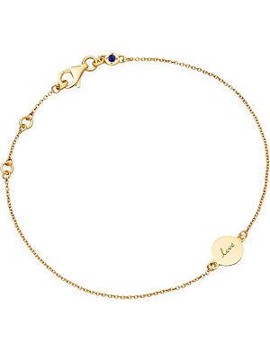 ASTLEY CLARKE Tiny love disc 18ct gold charm bracelet