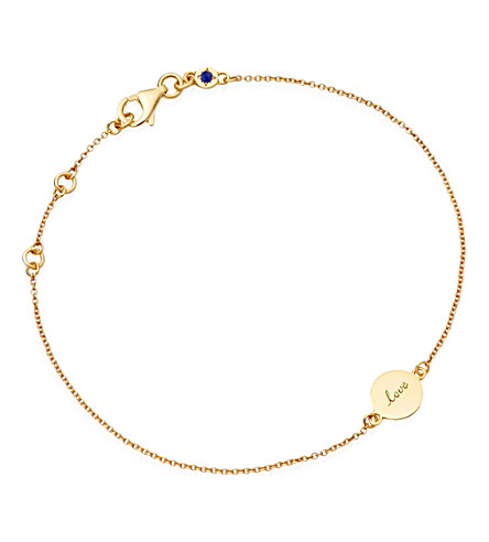 ASTLEY CLARKE Tiny love disc 18ct gold charm bracelet (Gold