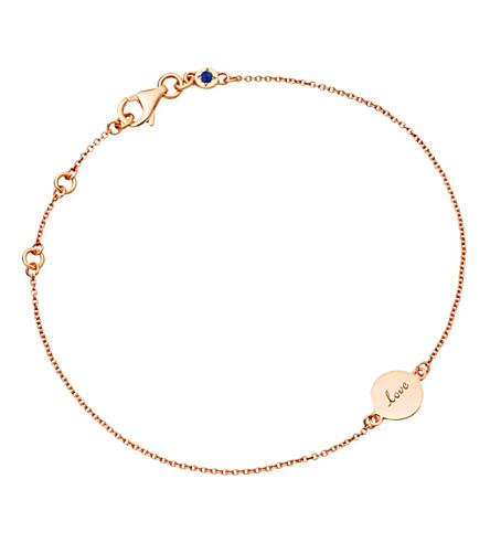 ASTLEY CLARKE Tiny love disc 18ct rose gold charm bracelet (Pink